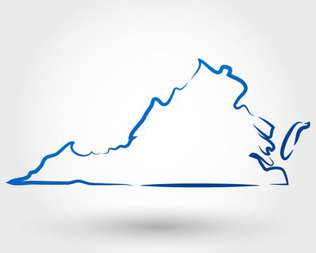 ヴァージニアの地図の概念の地図