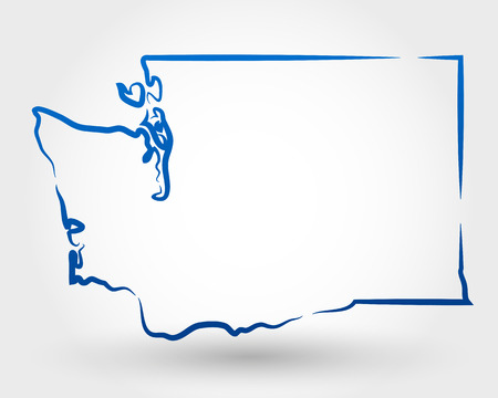 federal district: map of oregon  map concept