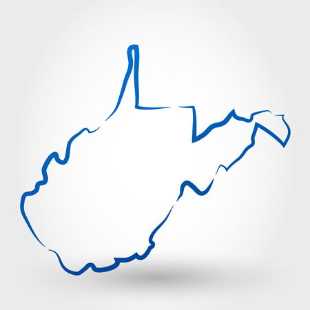west virginia: map of west virginia  map concept