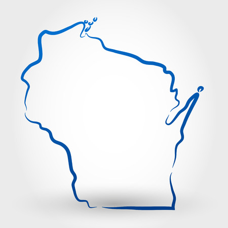 delineation: map of wisconsin  map concept