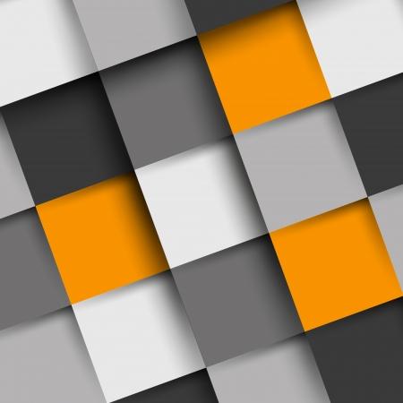 orange and grey square shadow backgorund. infographic concept. Stock Illustratie