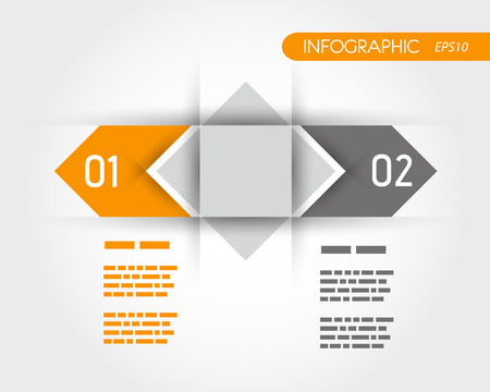 Flechas naranja dos opciones. concepto de infografía. Foto de archivo - 22297957