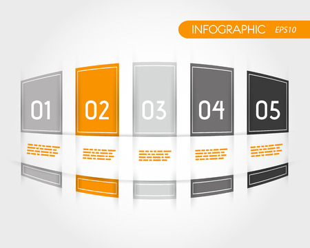 orange rounded infogrpahics with fringe. infographic concept. Vector