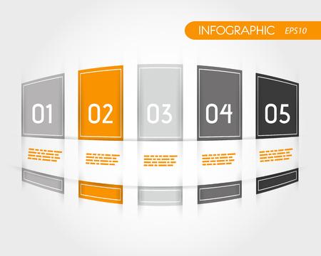 oranje afgerond infogrpahics met franje. infographic concept.