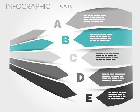 turquoise 3d infographic with labels. infographic concept. Vector