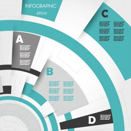 abstrato de turquesa anéis técnicas infográfico. conceito infográfico.