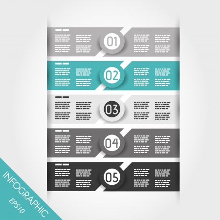turquoise and grey infographic labels with rings. infographic concept.