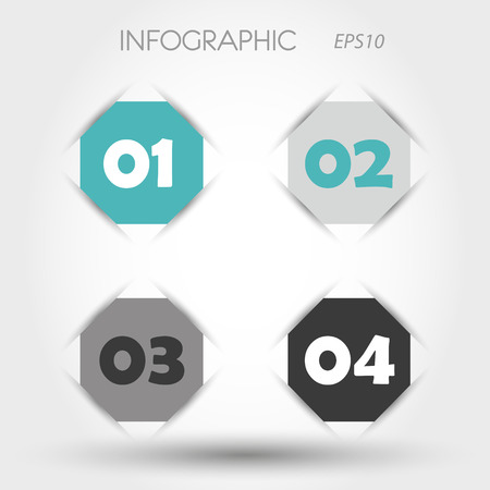 turquoise infographic hexagon with numbers. infographic concept. Vector