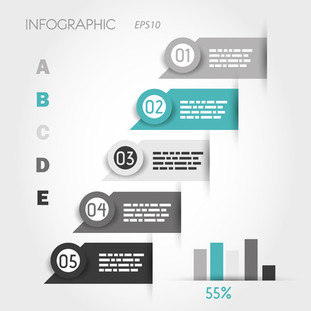 turquoise infographic labels with graph. infographic concept.