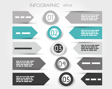 turquoise infographic with labels and rings in middle. infographic concept. Vector