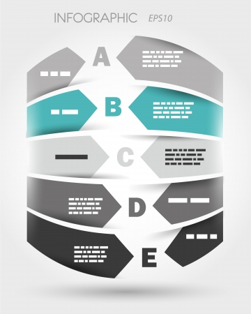 turquoise infographic cylinder from arrows. infographic concept.