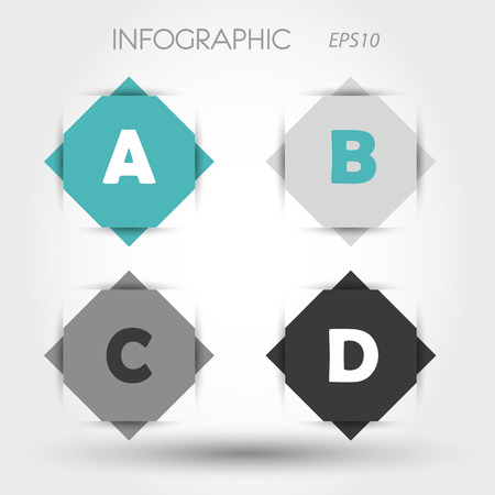turquoiserhombus infographic ABCD. infographic concept. Vector