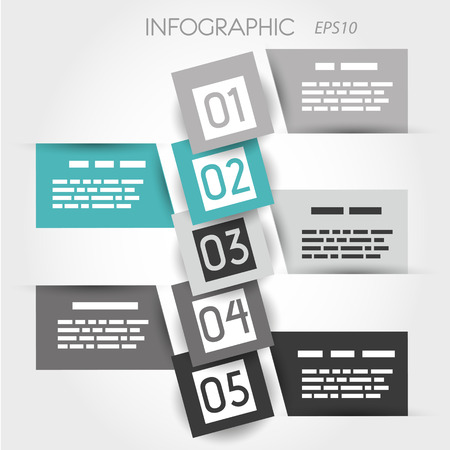 turquoise square bubble infographic. infographic concept. Vector