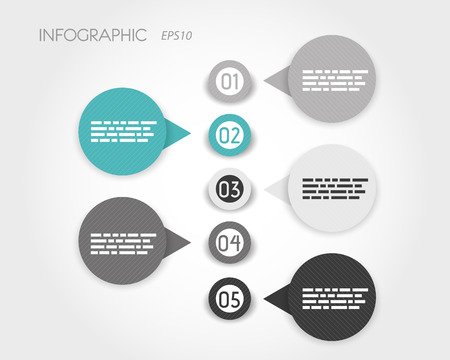 prospectus: turquoise striped infographic rings. infographic concept. Illustration
