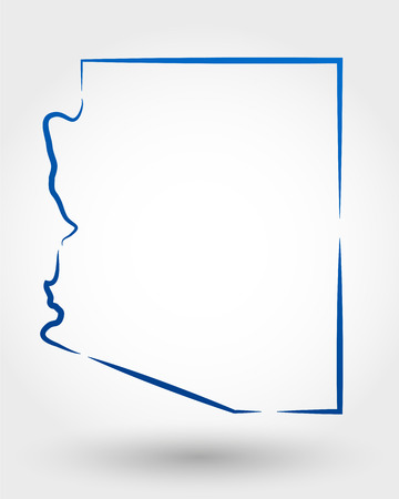 delineation: map of arizona. map concept