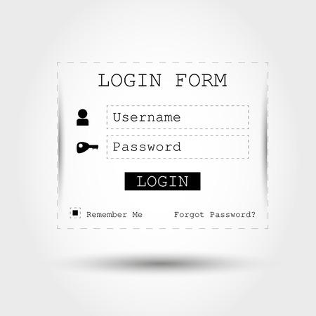 black transparent login form. login concept Stock Vector - 22395450