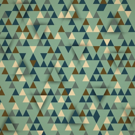 cold retro triangular 3d background. retro concept Vector
