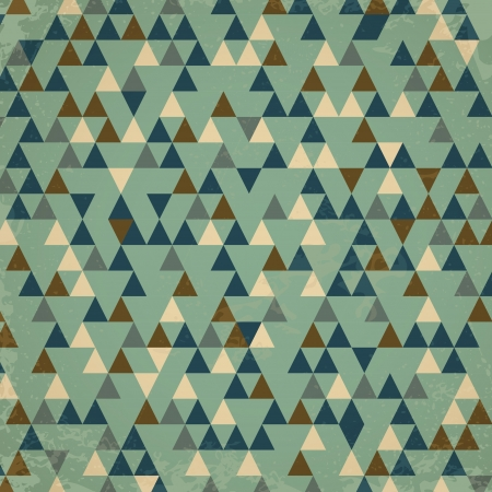 cold retro triangular background. retro concept Vector