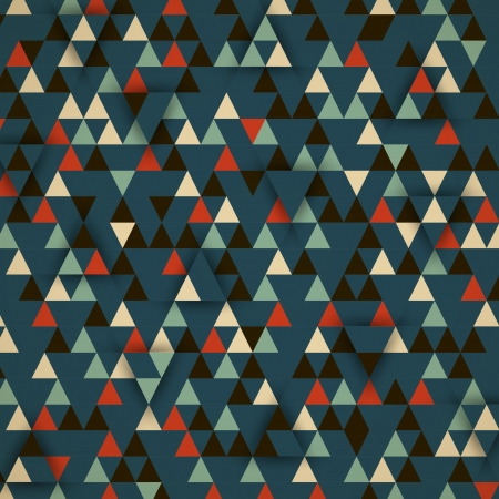 dark retro triangular 3d background. retro concept Vector