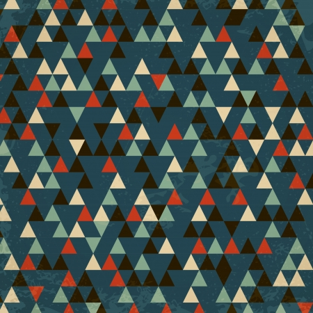 dark retro triangular background. retro concept Vector