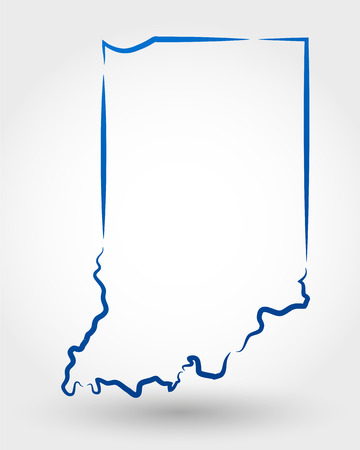 map of indiana. map concept Illustration