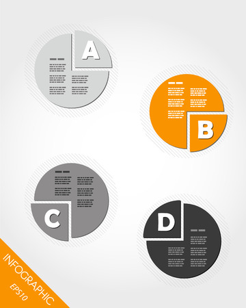 orange cake infographic with letters. infographic concept. Vector