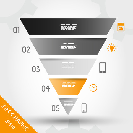 orange infographic reversed pyramid. infographic concept. 版權商用圖片 - 22395827