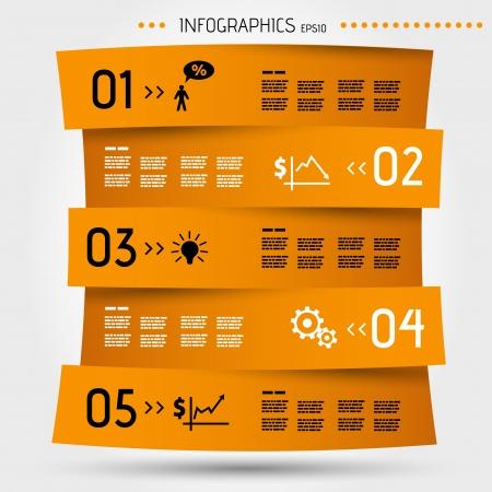 economical: orange zig zag infographic template. infographic concept.
