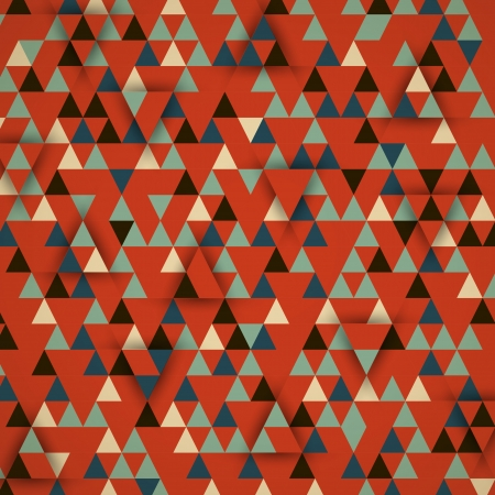 red_retro triangular 3d background. retro concept Vector