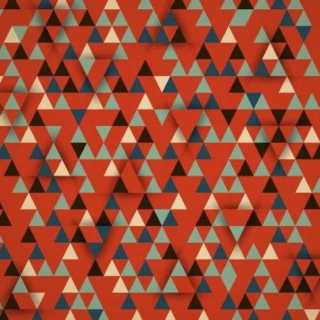 fabric art: red_retro triangular 3d background. retro concept