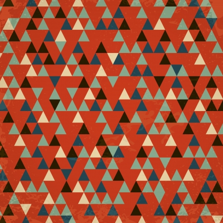 red retro triangular background. retro concept Vector