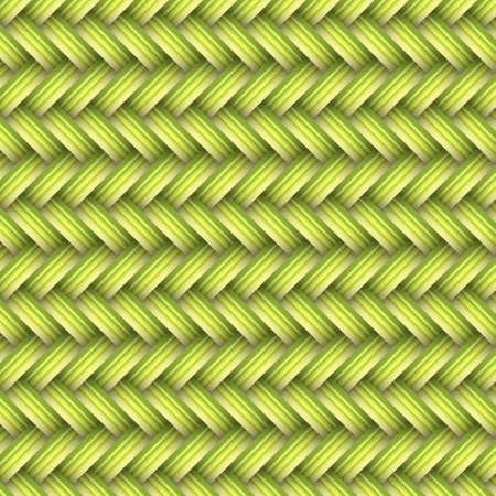 rattan mat: green ahd yellow wicker, background concept