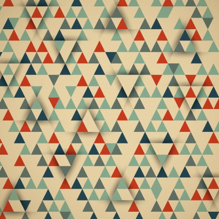 retro triangular 3d background. retro concept Vector