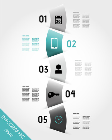 turquoise infographic wave with icons. infographic concept. Stock Vector - 22395991