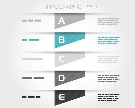 turquoise transparent striped infographic trapeziums. infographic concept.