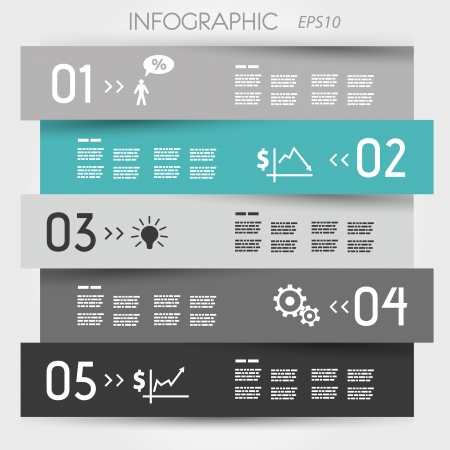 turquoise zigzag infographic element. infographic concept.