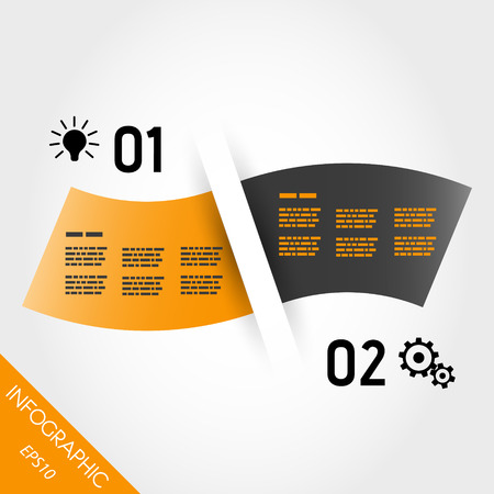 two orange infographic waves. infographic concept. Vector