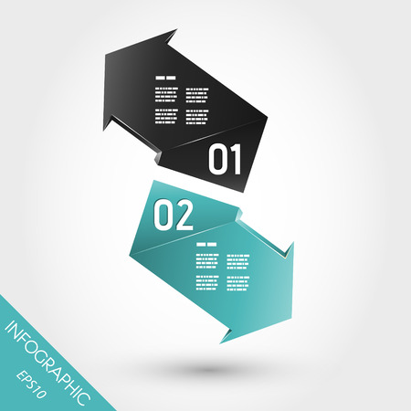 infographic arrows Vector