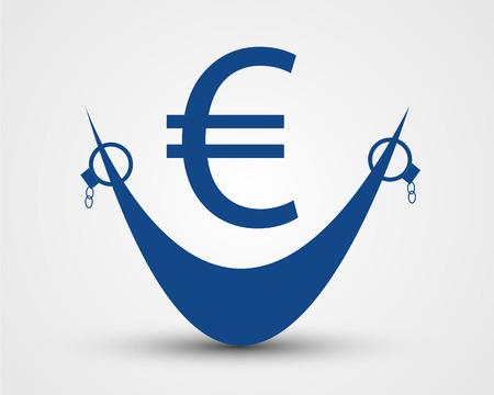 eur: free euro  free euro concept Illustration