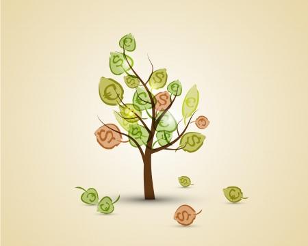 money background: money tree