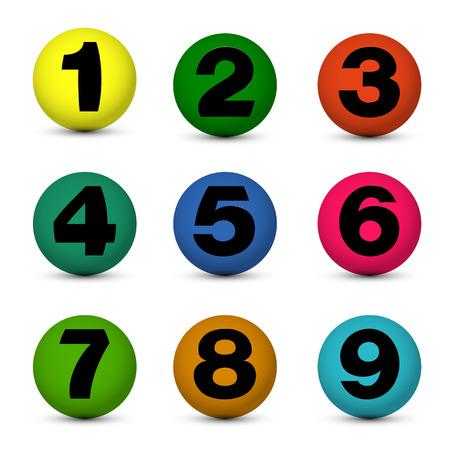 3 4: number ball. number ball concept Illustration