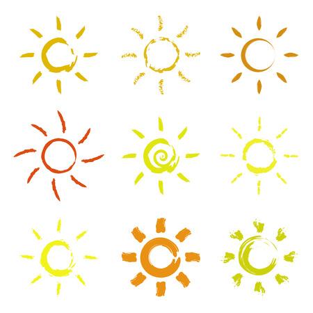 sol caricatura: conjunto de sol. concepto de sol
