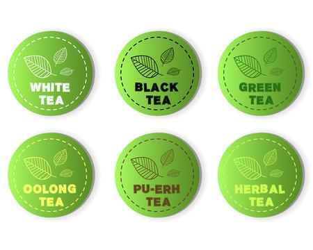 tea buttons. tea buttons concept Vector