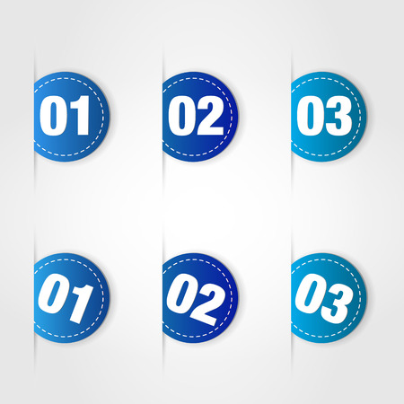 blue labels. bluel labels concept. Vector