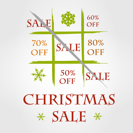christmas funny sale. sale concept.  Vector