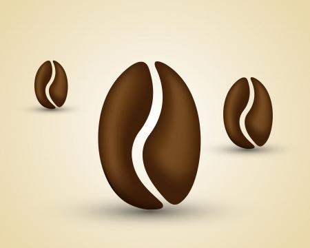 chicchi di caff�: chicco di caff�. concetto chicco di caff� Vettoriali