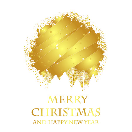 golden christmas card. christmas card concept Vector