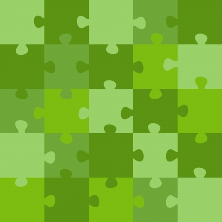 green puzzle. green puzzle concept