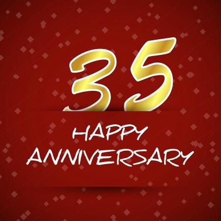 happy anniversary card 35. anniversary concept. Vector
