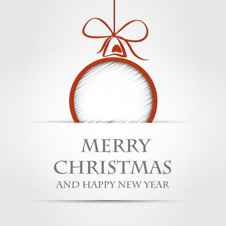 silver christmas: christmas ball. christmas ball concept Illustration